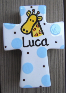Personalized Ceramic Cross Keepsake Box