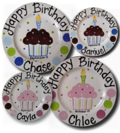 Personalized Ceramic Birthday Plates