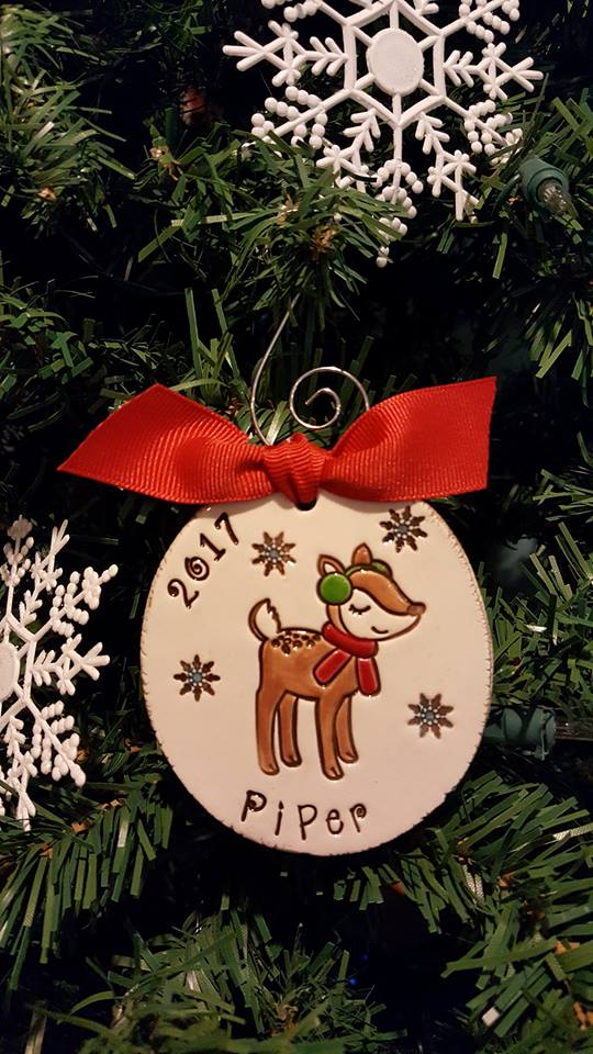 Personalized Reindeer Christmas Ornament