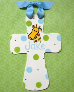 Personalized Fluted Ceramic Cross