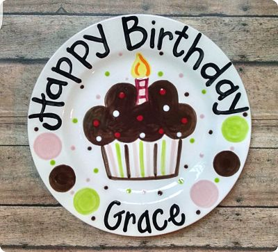 Catalog u003e Personalized Ceramic Birthday Plates & ceramic birthday plate hand painted personalized