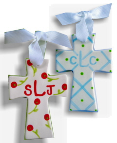 Personalized Ceramic Mini Cross