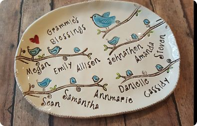 Children are a Blessing - Personalized Dish : personalized ceramic birthday plates - pezcame.com