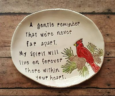 Cardinal Keepsake Dish or Plaque