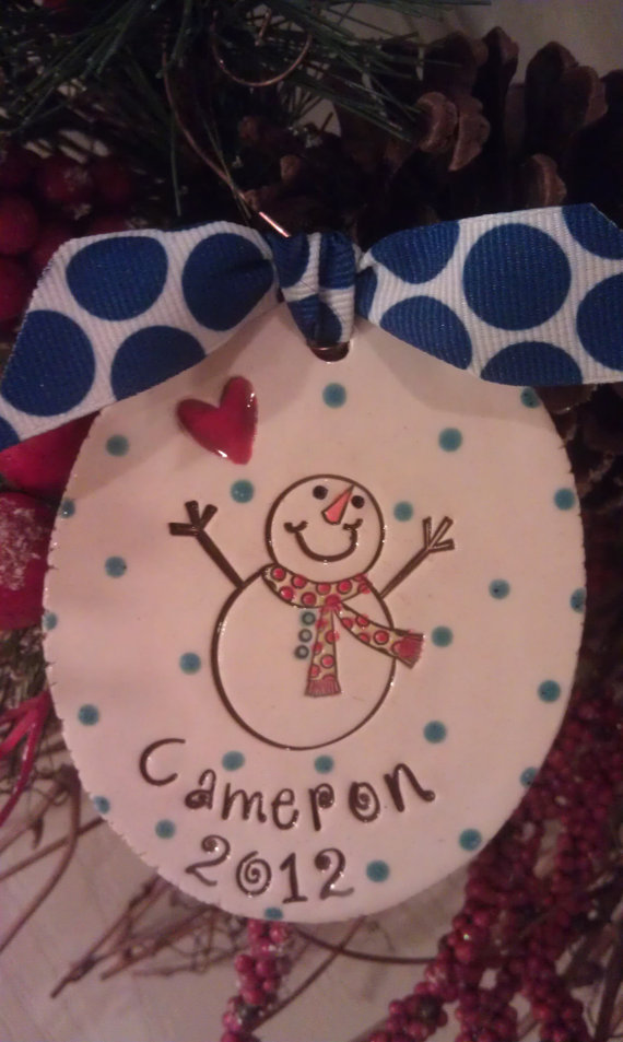 Sweet snowman ornament