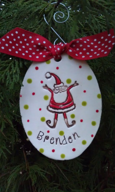 Personalized Santa Ornament