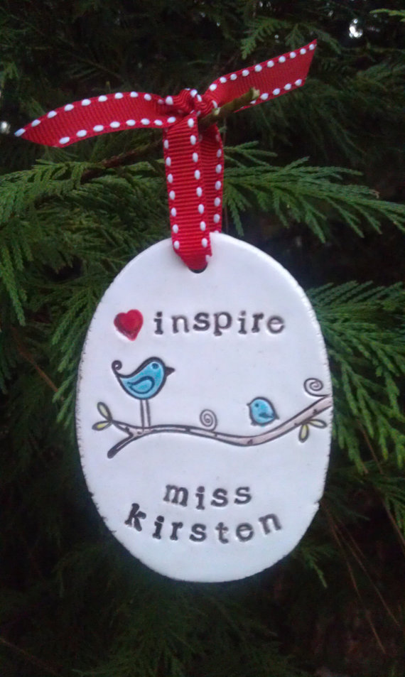 Personalized Inspire Ornament -Perfect for Teachers